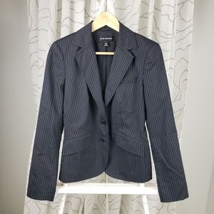 Club Monaco Two Button Pinstripe Wool Blend Blazer